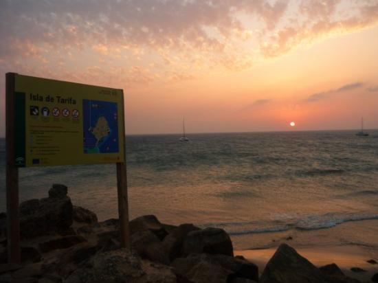 ตารีฟา, สเปน: Tramonto sulla spiaggia di Tarifa