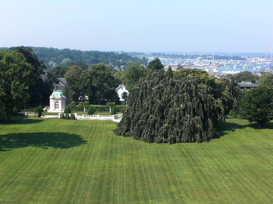 """Newport Mansions: View from the roof of """"The Elms"""""""