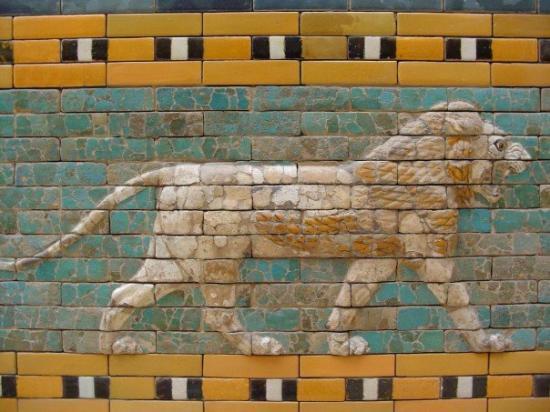 พิพิธภัณฑ์เปอร์กามอน: Detail of the Ishtar Gate