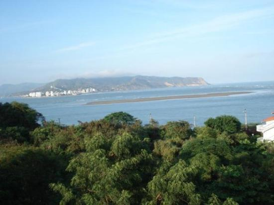 View of Bahia de Caraquez from the apartment