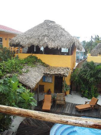 Seaside Cabanas: view from room #6..looking out to the bar