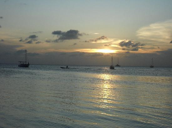 Seaside Cabanas: you have to see the sunset from Iguan Reef Resort on the back side of the island