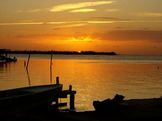 Seaside Cabanas: Caye Caulker sunset