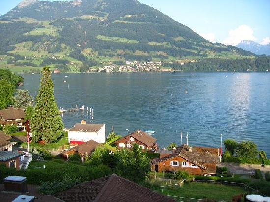Swiss Chalet Lodge: Lake Lucerne from Chateau Golden Gate