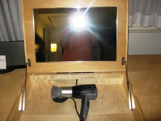Andaz London Liverpool Street: hidden hairdryer in drawer