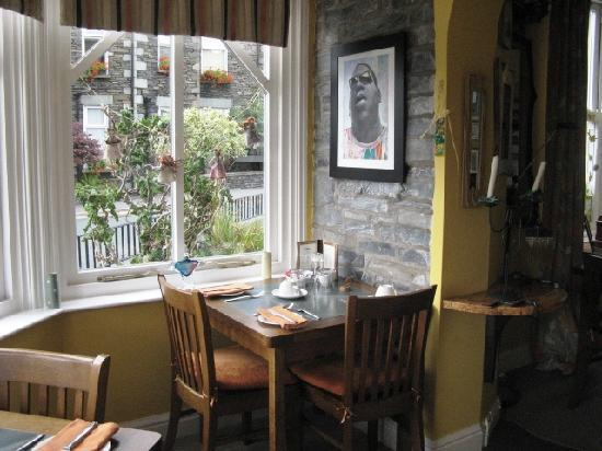 Easedale Lodge: our table in the breakfast room
