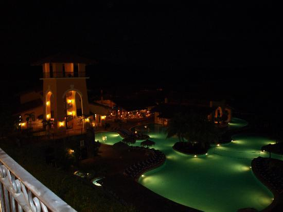Allegro Papagayo: Vistas nocturnas desde la terraza