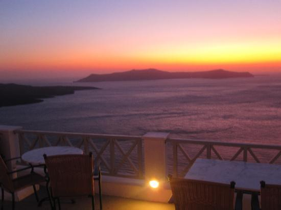 Hotel Keti: sunset from the balcony
