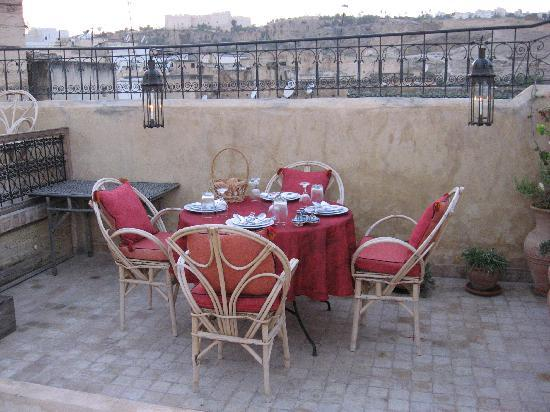 Dinner on the terrace at Dar El Hana
