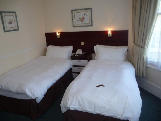 เกลนลินเกสเฮาส์: Two single beds with soft blanket and squishy mattress