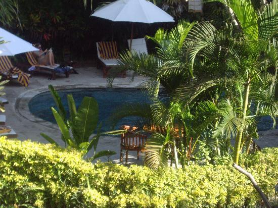 Hotel Puri Cendana: pool view from room
