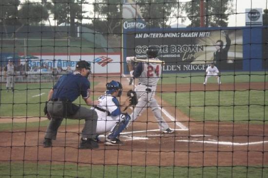 Cashman Center: Cashman Field - View from row 3 behind home plate