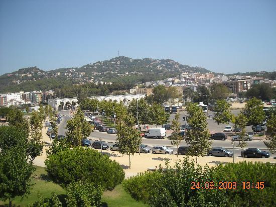 Evenia Olympic Palace: Panorama du 3ème étage côté rue