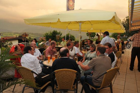 Oberreute, Germany: Hotel Terasse mit Blick auf den Hochgrat