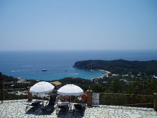 Apolis Villas: Valtos Bay from the villa