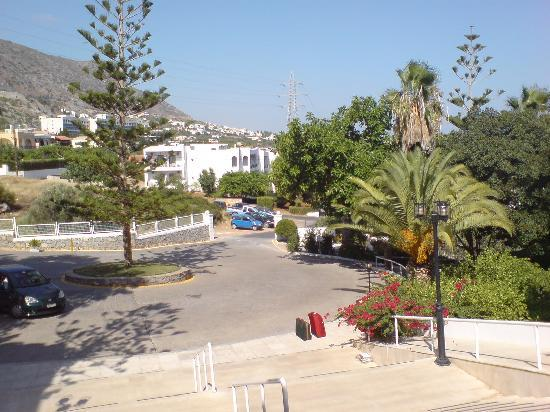 King Minos Palace Hotel: View from reception door.