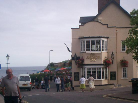 Beer, UK: The Anchor Inn by beach - Beet