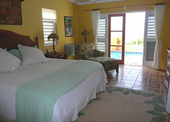 Villa Madeleine Resort Condominium: The master bedroom at the villa