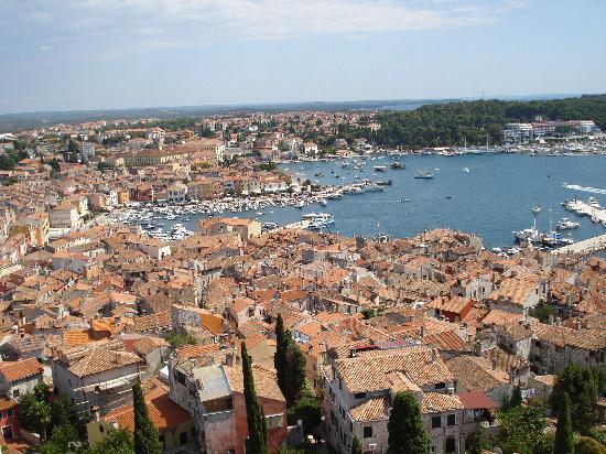 Hotel Park: View across Rovinj from St Euphamia bell tower