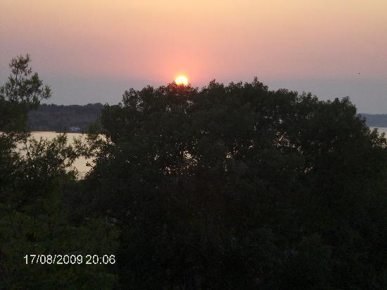 Porto Heli, Yunani: Sunset view from room