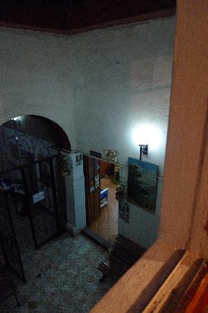 Hostal La Reyna: The receptionist's office below.