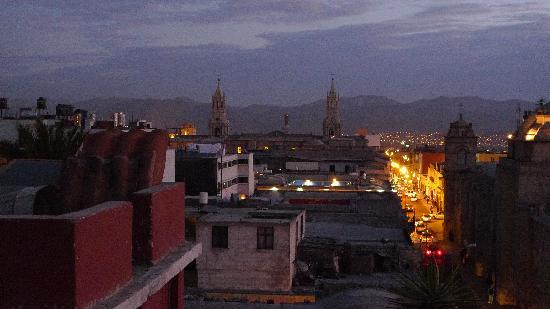 Hostal La Reyna: The view of Plaza de Armas from the rooftop.