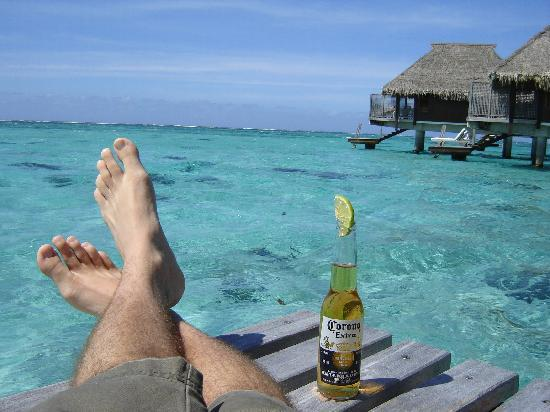 Hilton Moorea Lagoon Resort & Spa: I would recommend a local drink, but this makes foe a good pic