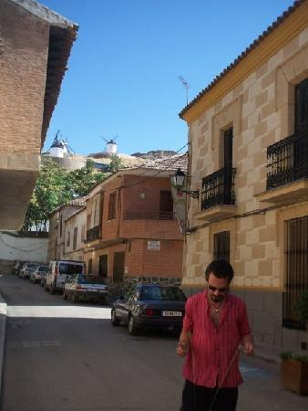 La Vida de Antes Rural Hotel: Street in front of the hotel - showing the windmills