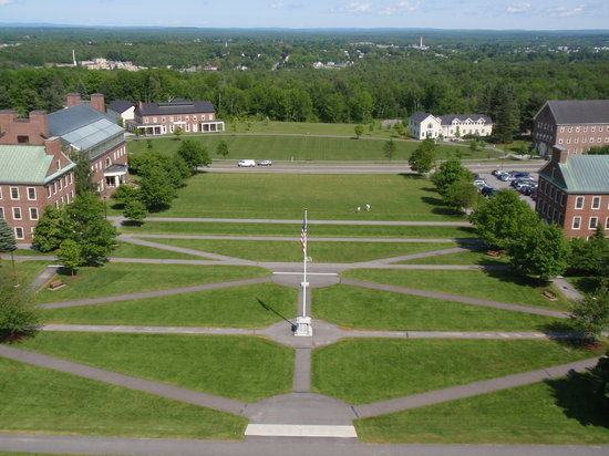 View of Waterville from Colby College clock tower