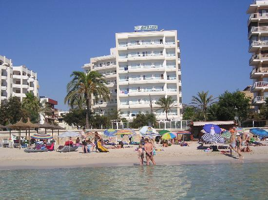 Hotel Sabina: das Hotel vom Wasser aus