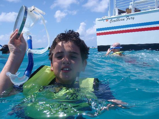 Fury Water Adventures Key West: Niles having a great time snorkeling
