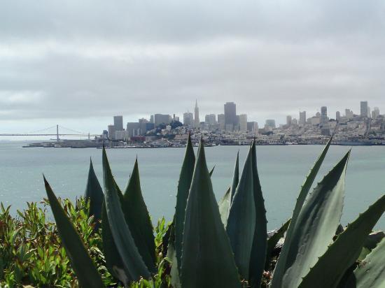 โรงแรมแฮนด์เลย์ ยูเนี่ยนสแควร์: A Alcatraz, vu de San Francisco