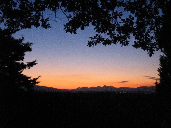 Agriturismo Aglioni: Der Blick beim Abendessen