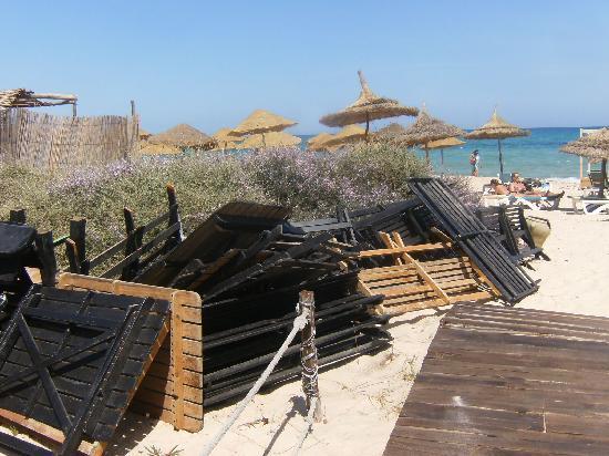Hotel Dar El Olf: plage de l'hotel el olf