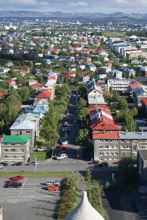 เรคยาวิก, ไอซ์แลนด์: reykjavik from church viewing tower