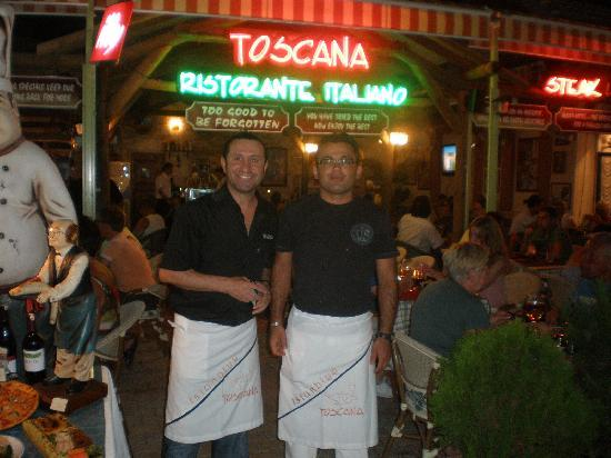 Toscana Ristorante Italiano: Yusuf and Hasan guaranteed fun !!