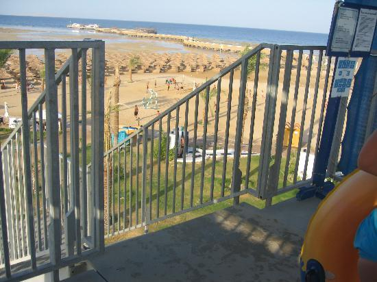 Titanic Beach Spa & Aqua Park: View of Beach and Pier from Water Park