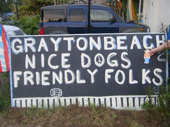 เดสติน, ฟลอริด้า: Grayton Beach Sign