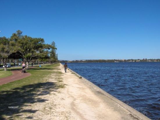 เพิร์ท, ออสเตรเลีย: swan river?? near the city anyway...