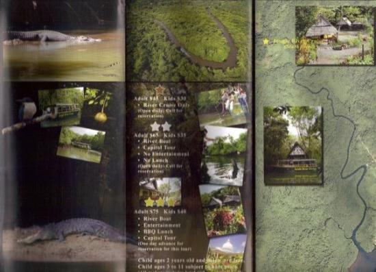 กอโรร์, ปาเลา: Jungle River Boat Cruise Brochure