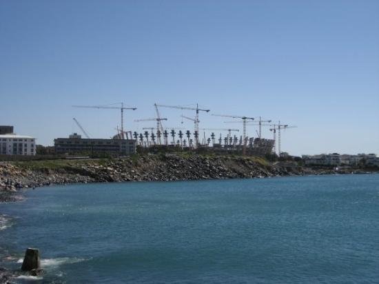 ใจกลางเมืองเคปทาวน์, แอฟริกาใต้: Stade de foot Mondial 2010 en construction.