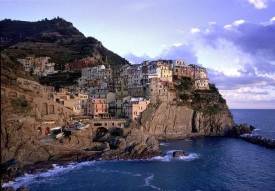 Manarola, one of the five villages of the Cinque Terre, on the Ligurian coast.