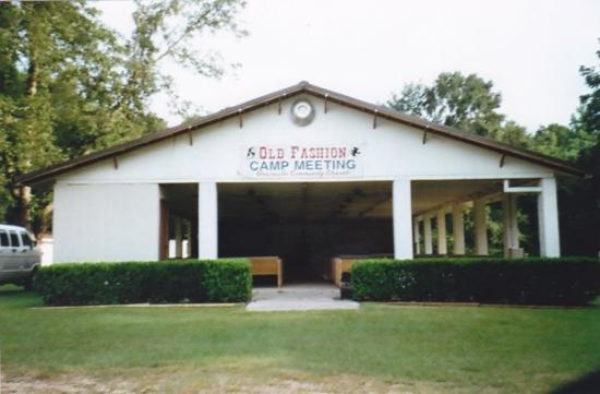 This is the campmeeting tabernacle of the Graceville Community Church, an old-time Holiness/Pent
