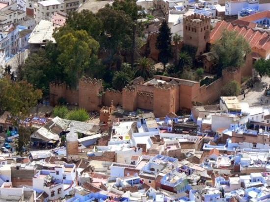 เมือง Chefchaouen, โมร็อกโก: The kasbah at Chefchaouen from above