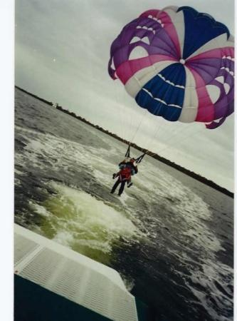 Lakes Entrance, Australia.. parasailing ... loved it :)