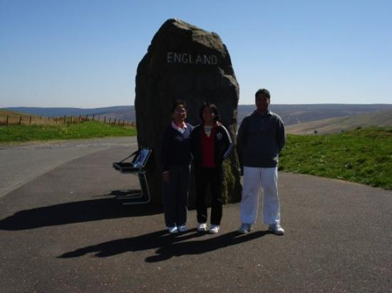 Northumberland National Park, UK: Welcome to England