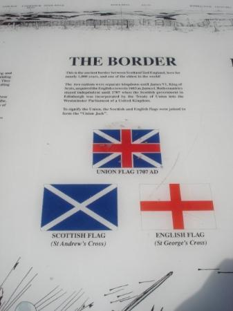 English-Scottish Border in Carter Bay (near Northumberland National Park), UK