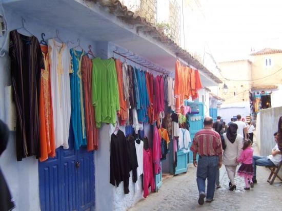 เมือง Chefchaouen, โมร็อกโก: Street markets or souks