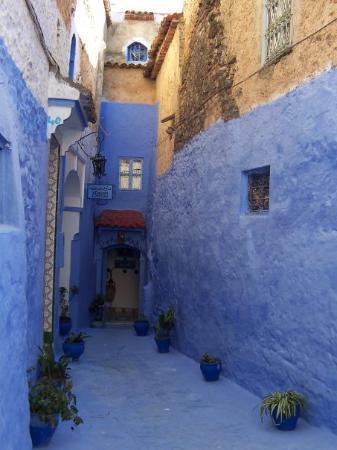เมือง Chefchaouen, โมร็อกโก: Beautiful alley way