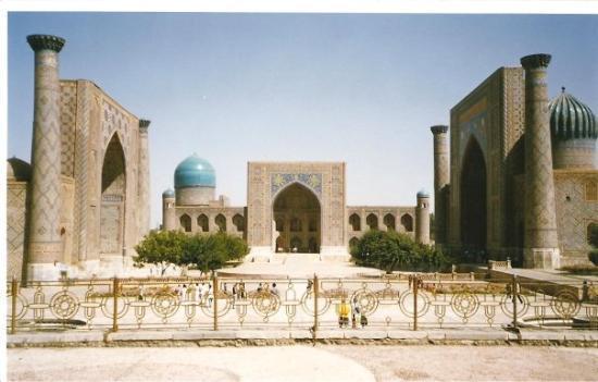 ซามักร์แคนด์, อุซเบกิสถาน: uzbekistan 2004 - samarcanda : piazza registan